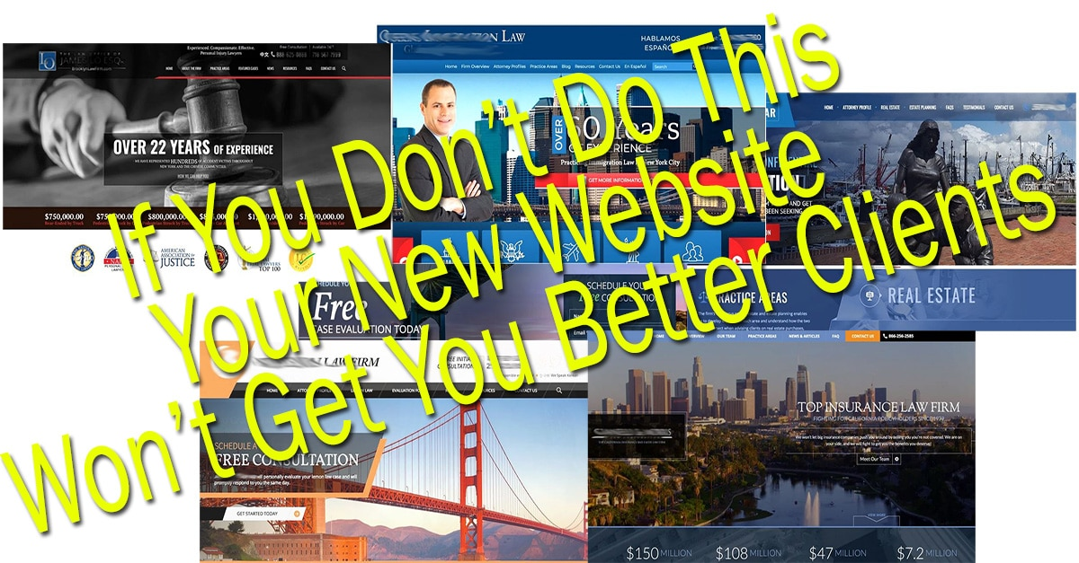 Law firm web page montage